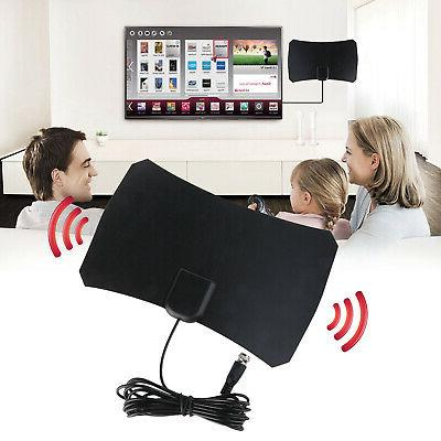 flat hd digital indoor amplified tv antenna