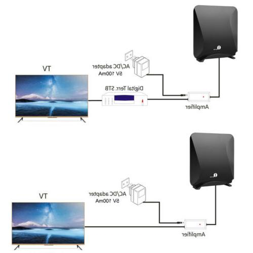 1byone Flat Antenna Indoor High with Amplifier