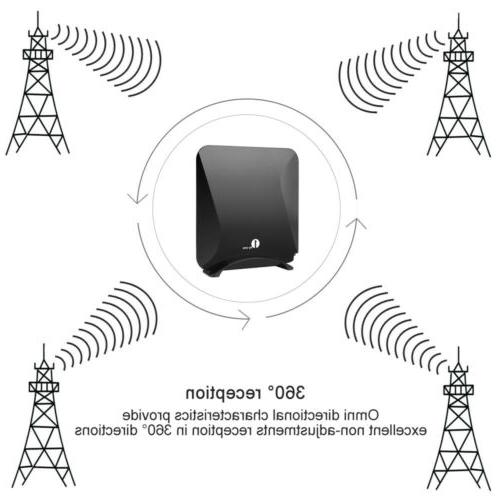 1byone Flat Antenna Digital High Signal Amplifier