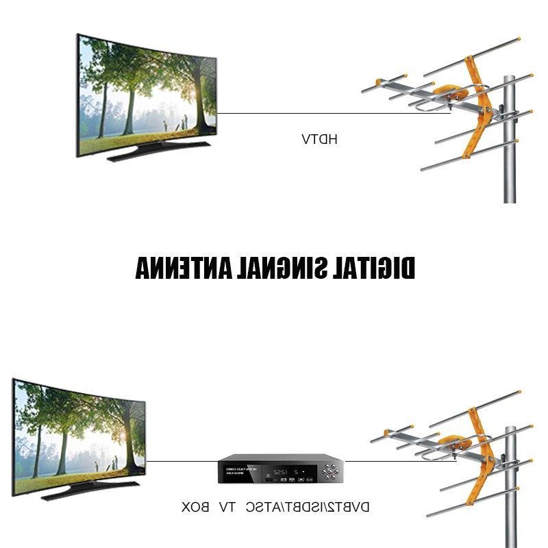 <font><b>HD</b></font> <font><b>TV</b></font> <font><b>Antenna</b></font> For DVBT/DVBT2 <font><b>Outdoor</b></font> Amplified HDTV