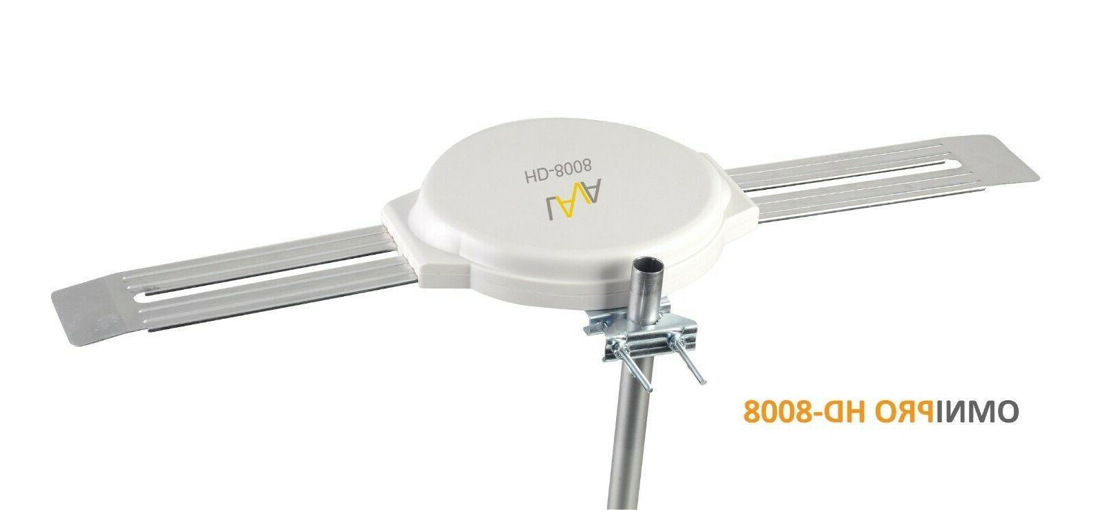 hd8008 omnidirectional outdoor tv antenna hd tv