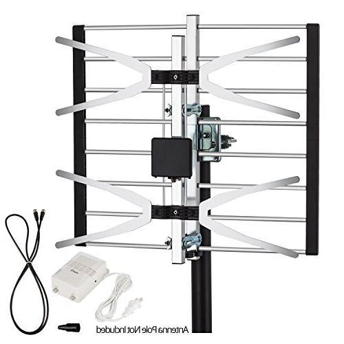 hdtv amplified antenna attic range