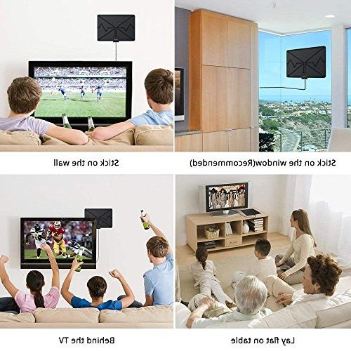 HDTV Indoor TV Antenna 80 Miles Range with Signal 4K All of Television - Version