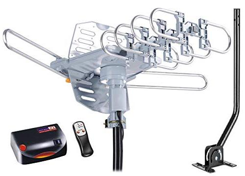 McDuory Digital Antenna Rotation Amplified HDTV Antenna -Support Infrared RG6 Pole Included