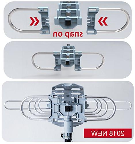 pingbingding HDTV Amplified Digital Mounting Pole-150 Degree Wireless Installation