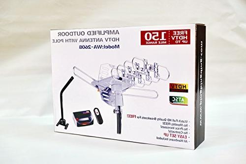 pingbingding HDTV Amplified Digital Outdoor Mounting Range-360 Degree Rotation Installation Support 2