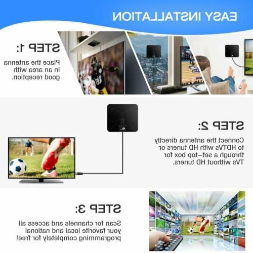 HDTV 1byone Digital Indoor TV Antenna Miles Range High Cable