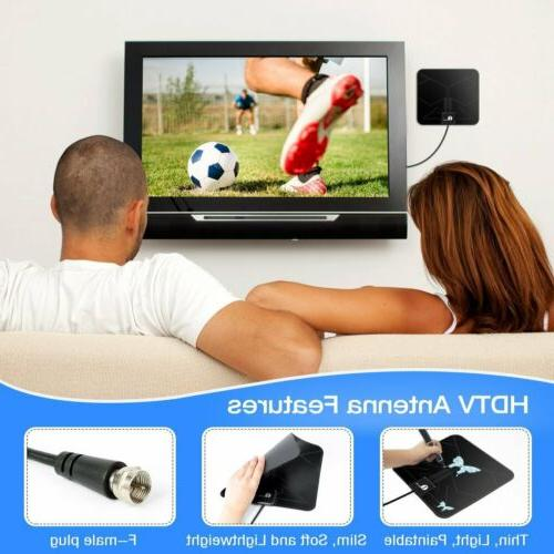 HDTV 1byone Digital Indoor TV Miles w/10ft High Cable