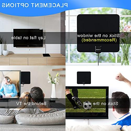 Lxuemlu HDTV Antenna Digital Antenna, Miles with Booster Cable Extremely High Reception
