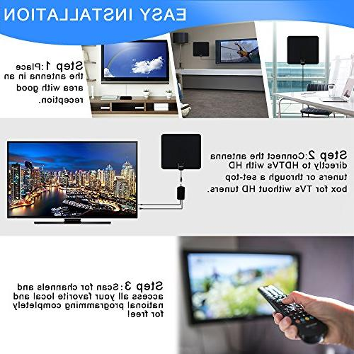 Lxuemlu HDTV Miles with Amplifier Booster Cable - Reception