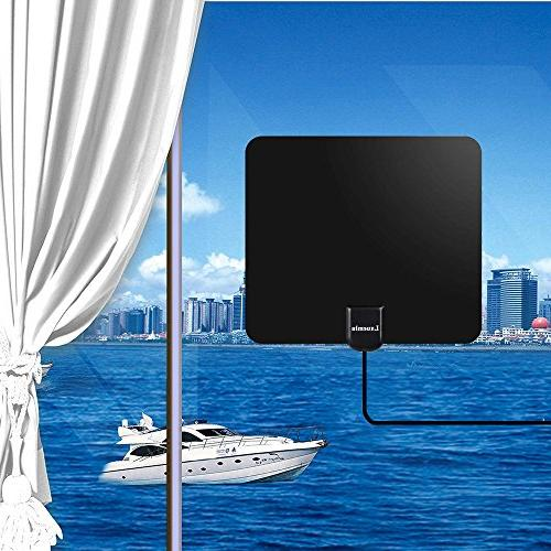 Lxuemlu Digital Miles Rang Antenna with Booster Coaxial Cable Reception