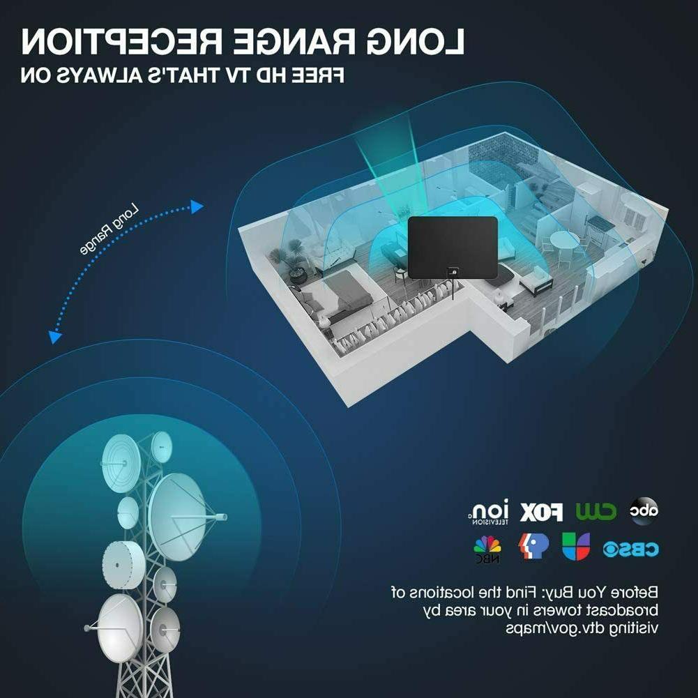 TV Indoor Digital TV Antenna 1080P