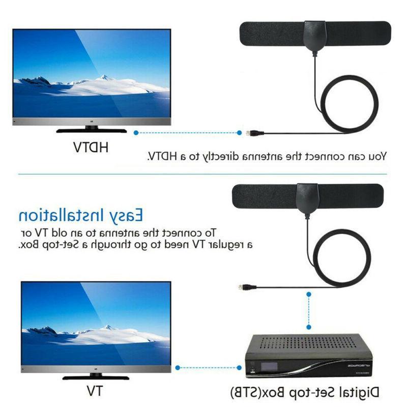 HDTV Digital TV Antenna Indoor Aerial Signal Amplified Thin Mile