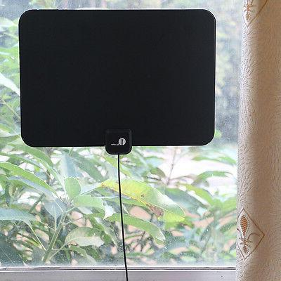 1byone Antenna HDTV 1080P 4K Thin Indoor TV CD VHF
