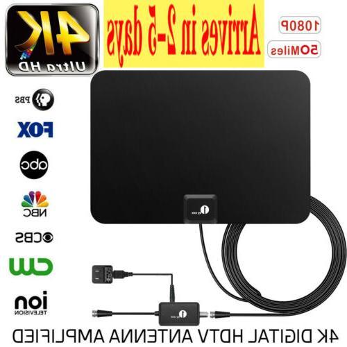indoor amplified hdtv tv antenna 1080p hd
