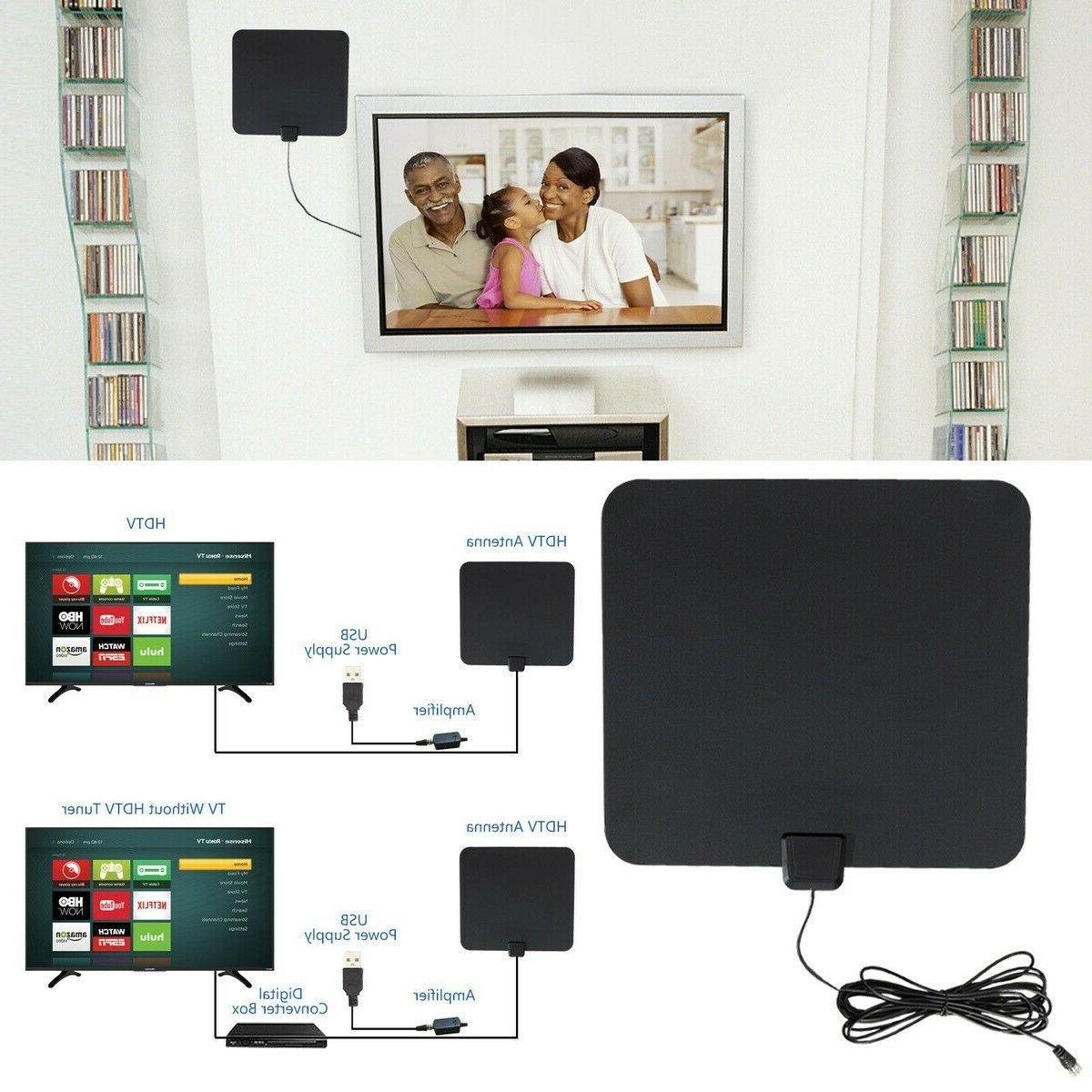 50 Miles Indoor Amplified TV ViewTV Flat Amplifier
