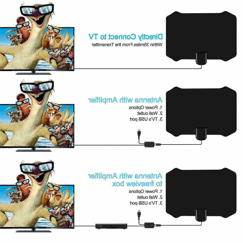 50 Miles TV Antenna HD ViewTV Flat B22 Amplifier