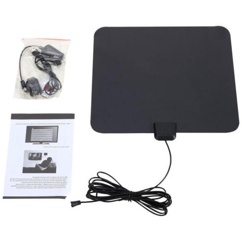 Indoor Amplified TV Antenna Flat HD Digital Amplifier