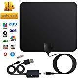 80Miles Indoor Amplified TV Antenna - Vintv Upgraded Digital