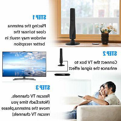 Indoor Digital TV 200 Miles Range 1080P Signal Booster Amplifier HDTV