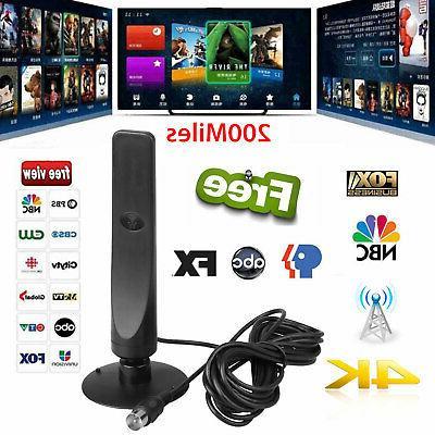 Indoor Digital TV 200 Miles Range HD 1080P HDTV