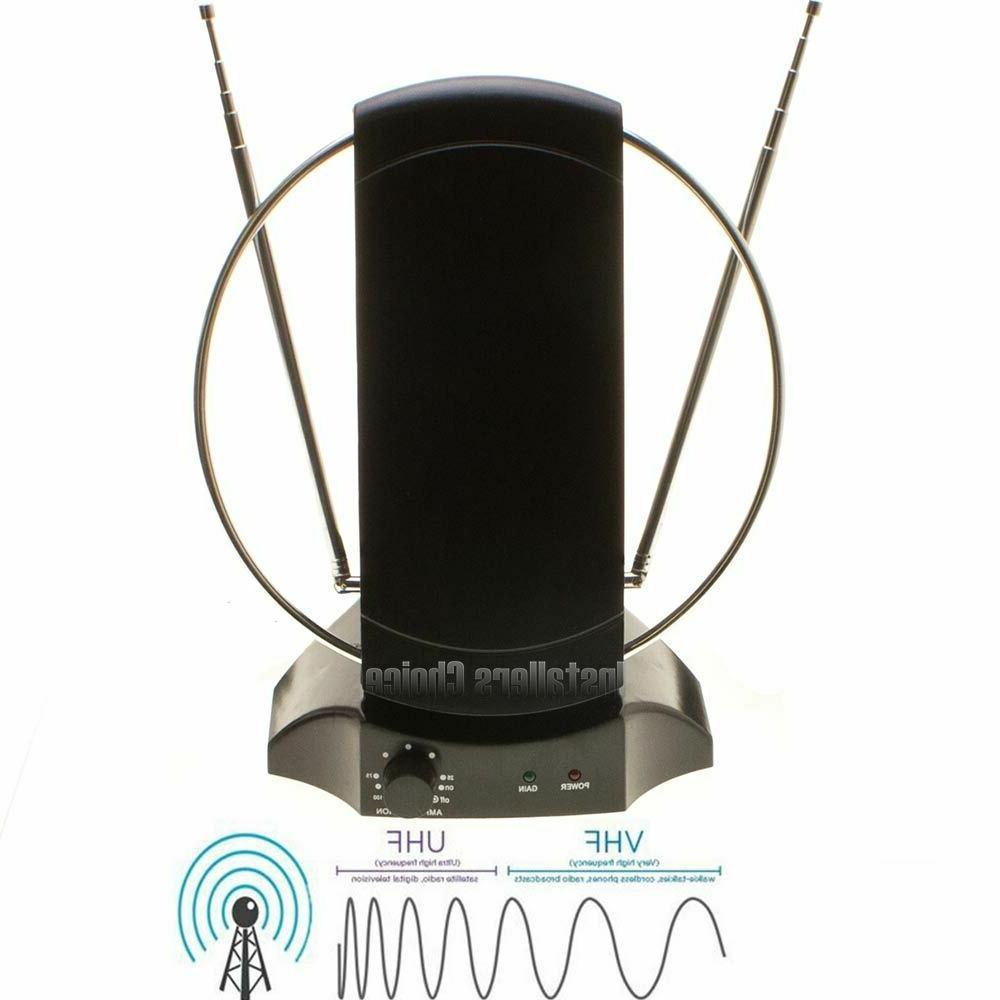 Digital HDTV Antenna Indoor Stand Amplified TV Signal Booste