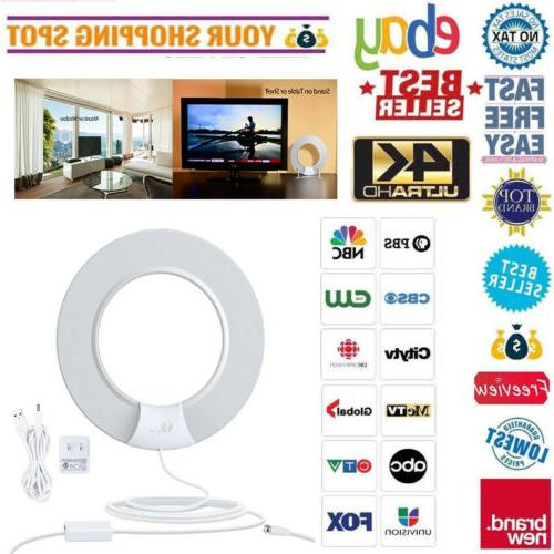 1Byone HD TV Antenna Digital Amplified 100 Miles Noise Freeview