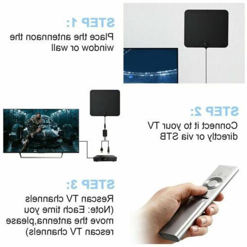 Indoor Amplified HDTV TV Mile Digital Antena 1080P