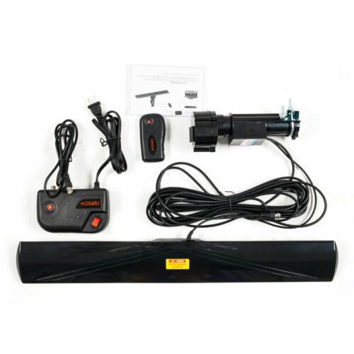 Long Range Miles Outdoor Amplified TV Antenna UHF/VHF/FM