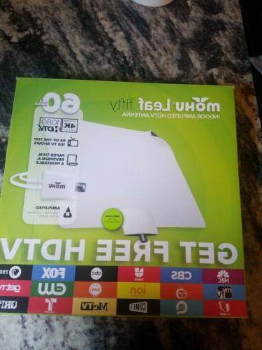 leaf fifty indoor amplified tv antenna 60