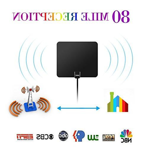 Newest Digital HDTV Antenna Coaxial Cable Local Channels