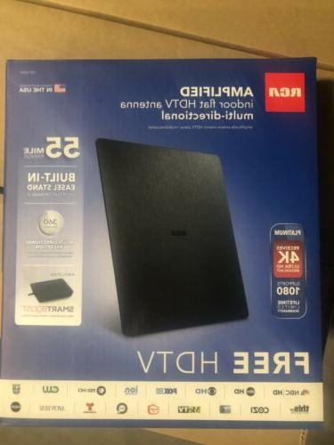 new in box amplified indoor flat hdtv