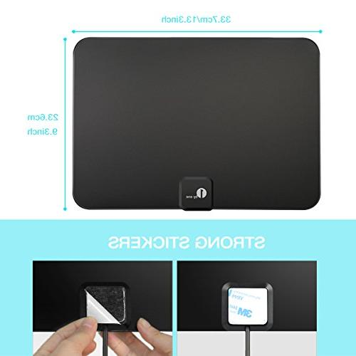 1byone Digital Antenna Range, 1080p for Indoor with HDTV Amplifier Booster, and Power Supply