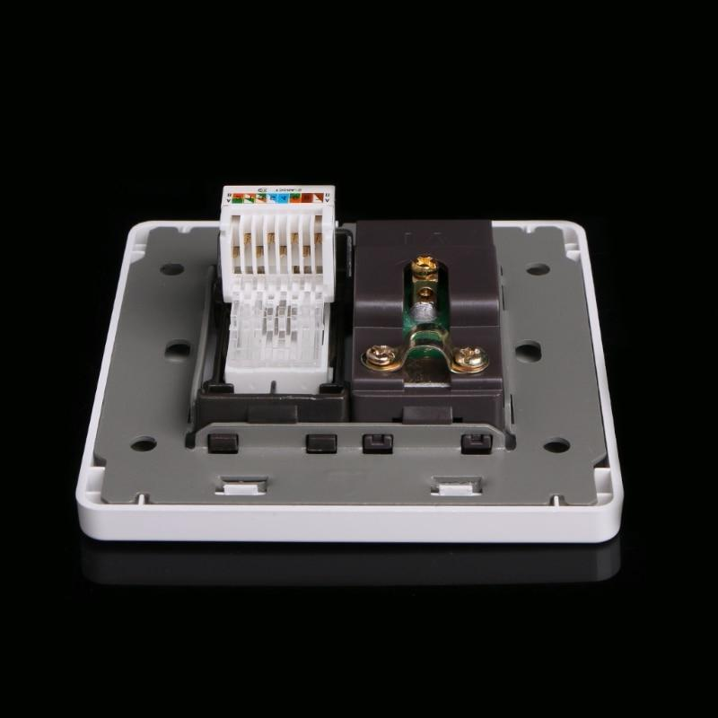 RJ45 Network Coaxial Wall Ship Support