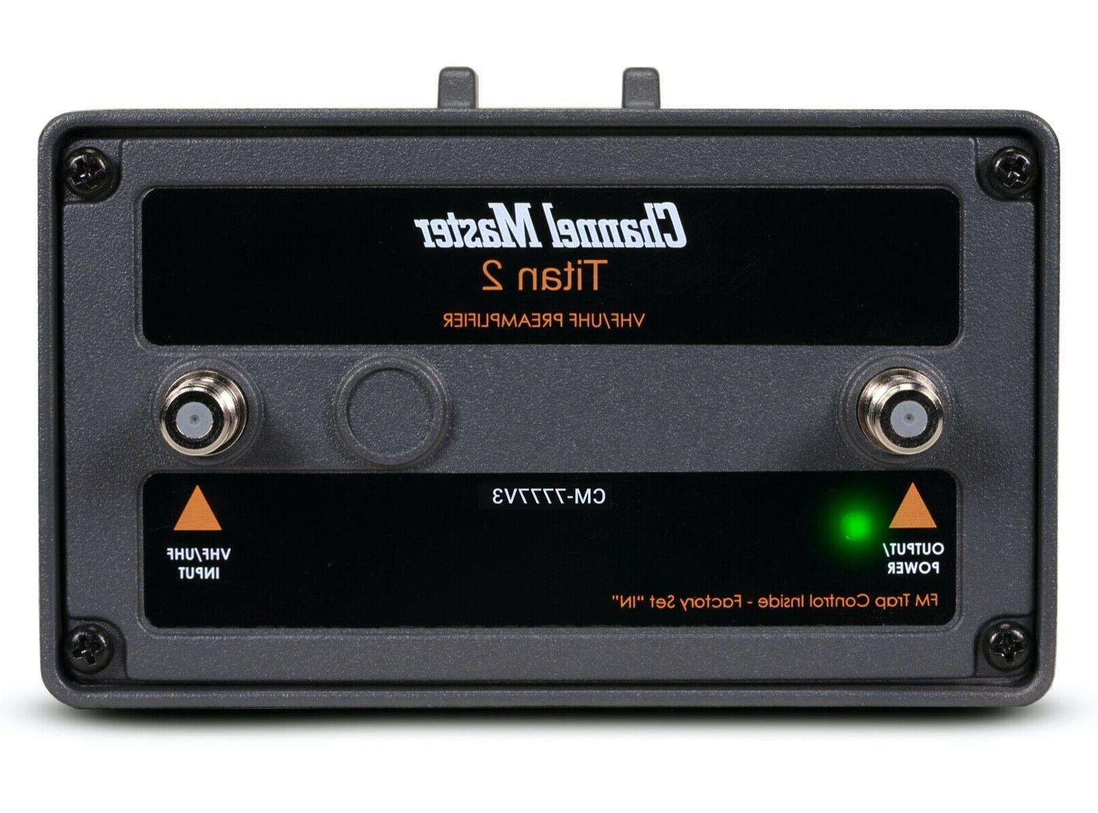 titan 2 high gain tv antenna preamplifier