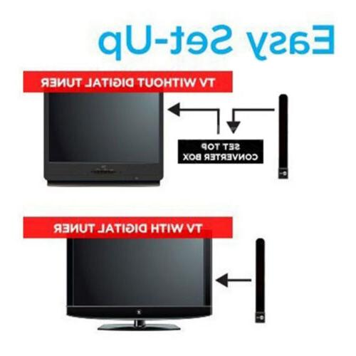 2*Clear TV Free TV Indoor Digital Antenna Cable W