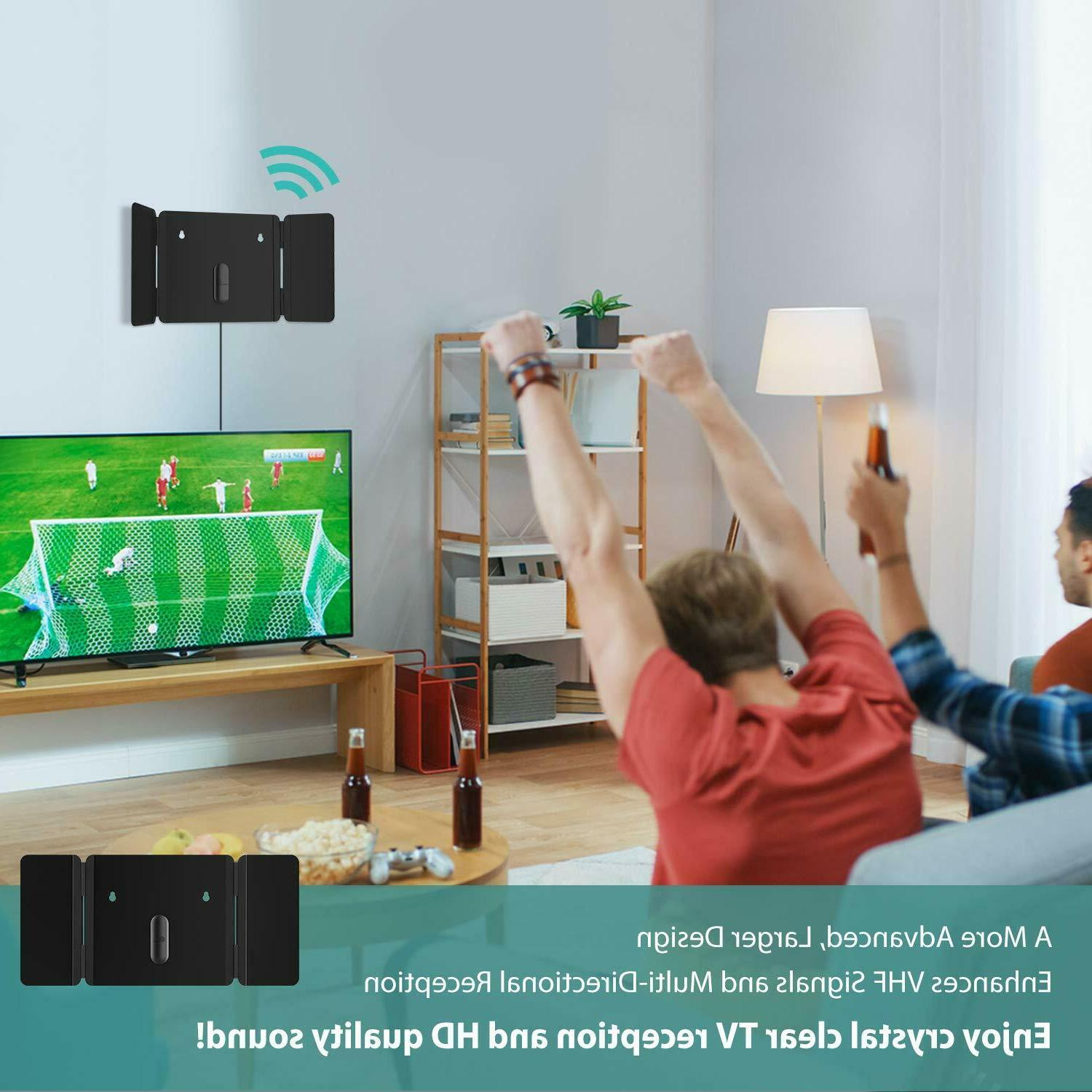 1byone TV Foldable Antenna, Indoor Antenna for