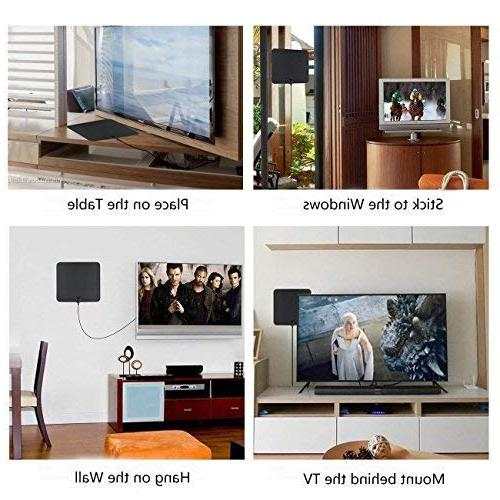 Antenna, 50-80 HD – Support 4K & for HDTV Booster - Long Coax Cable