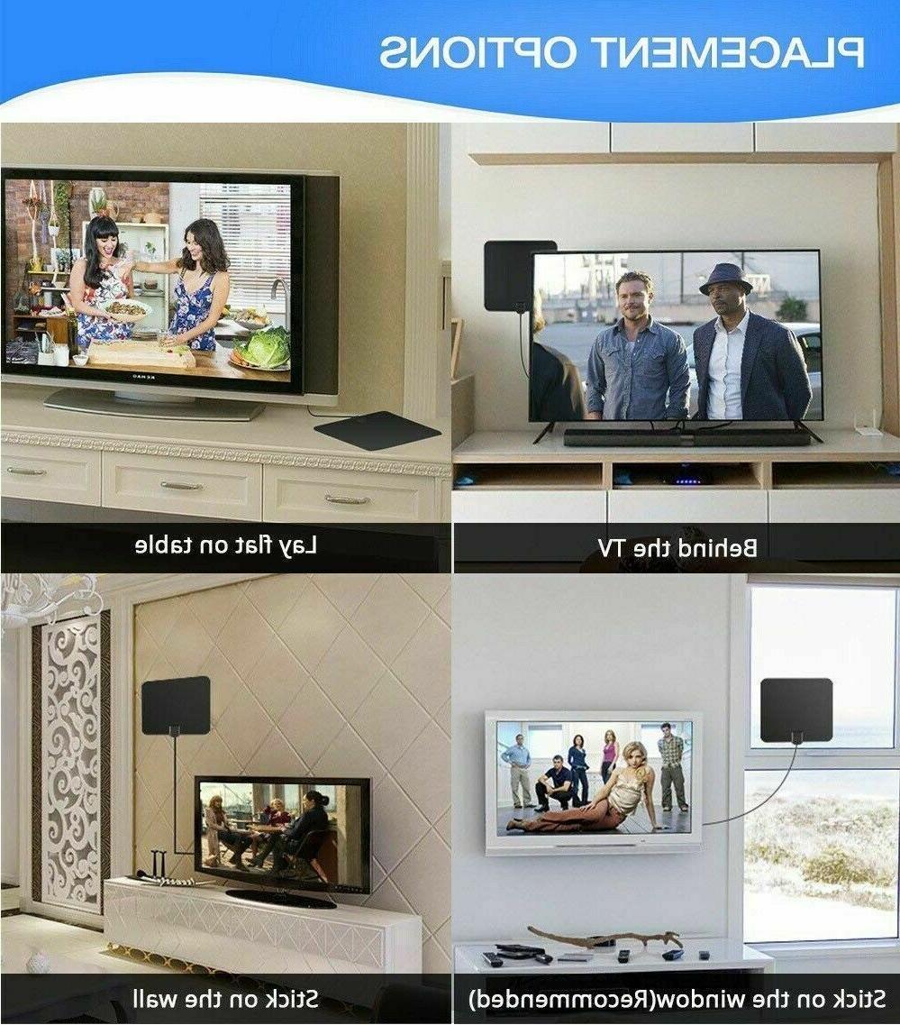 TV Newest Indoor HDTV TV Antenna 4K Miles