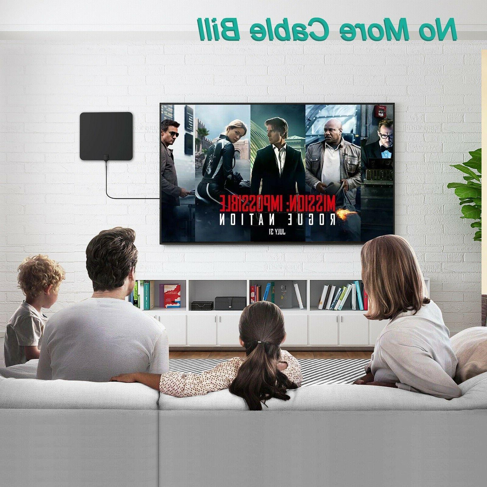 TV Antenna HDTV Amplified Digital Antenna 4K 1080P Miles