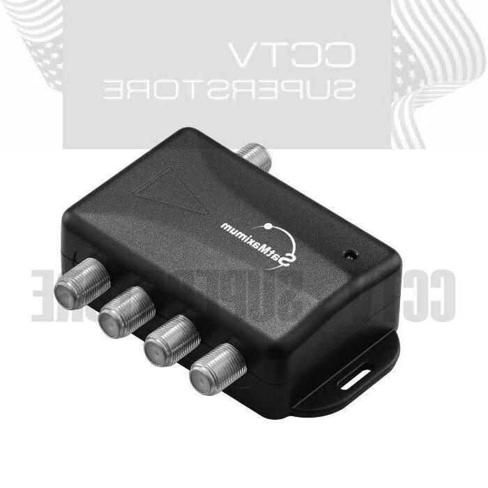 Amplifier Splitter HDTV CABLE 4 PORT Audio Video