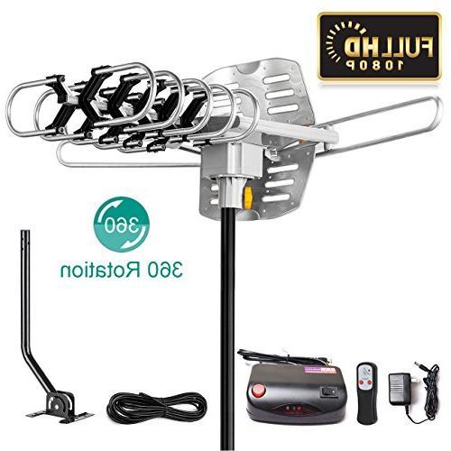 UPGRADED VERSION HD Digital 150 Miles Range High-Definition 4K 1080P Channels Control - 33ft Coax 4K
