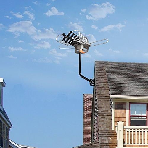 UPGRADED VERSION Digital Antenna 150 Miles High-Definition Channels Wireless Remote - 33ft - All TV's-1080p 4K ready