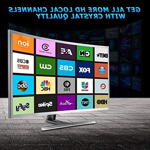 Vansky Digital HD TV Mile Local 1080p & All TVs, 50-80Mile, Black