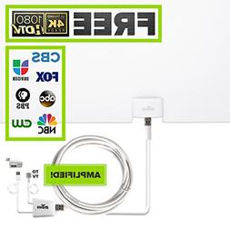 Mohu Leaf Glide HDTV Antenna, Indoor, Amplified, 65 Mile Ran
