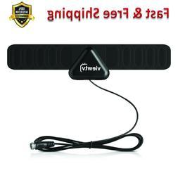 Mini Flat HD Digital Indoor TV Antenna 25 Miles Range Black