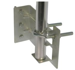 "Mounting Bracket for Outdoor TV Antenna Mast, fits 1"" Pipe,"
