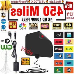 NEW Antenna TV Digital HD 450 Mile Range 4K Skywire TV Anten