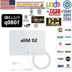1byone New  Digital TV Antenna HDTV High Gain Amplifier 1080