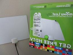 NEW! Mohu Leaf 50 Amplified HDTV Antenna, 60 Mile Range, Bla
